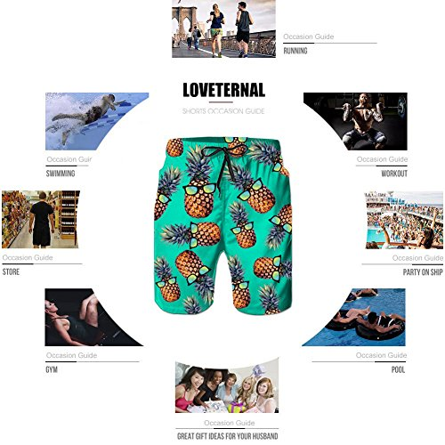 Swim Dry Blue Bagno Pantaloncini Stampato Spiaggia Da Trunks Quick Pineapple Loveternal Uomo Costume XzwqTaX1f