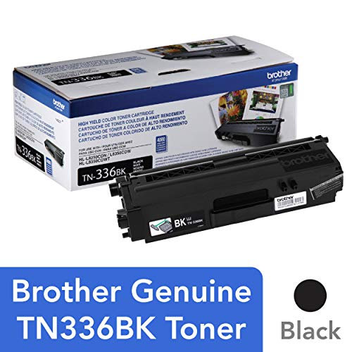 Brother Genuine High Yield Toner Cartridge, TN336BK, Replacement Black Toner, Page Yield Up To 4,000 Pages, Amazon Dash Replenishment Cartridge, TN336 (Brother 8600 Laser)
