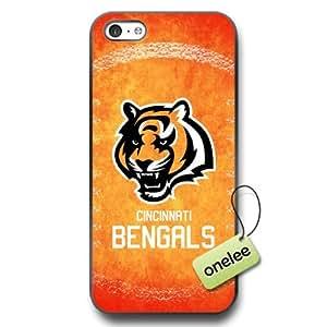 NFL Cincinnati Bengals Team Logo iPhone 5c Black Rubber(TPU) Soft Case Cover - Black