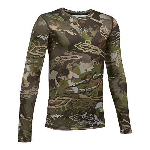 Under Armour Boys Scent Control Tech Long Sleeve Top, Ridge Reaper Camo/Black, Youth X-Large