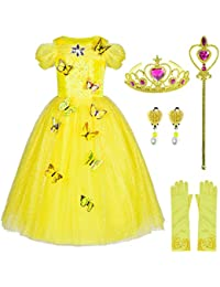 Princess Cinderella Costume Girls Dress Up With Accessories 4-10 Years