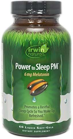 Irwin Naturals, Power to Sleep PM 6mg Melatonin, 60 Count