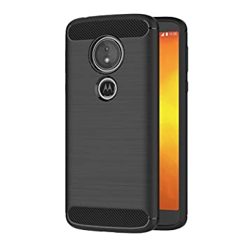 AICEK Funda Moto G6 Play, Negro Silicona Fundas para Motorola Moto G6 Play Carcasa Moto G6 Play Fibra de Carbono Funda Case (5,7 Pulgadas)
