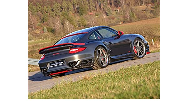 Amazon.com: Porsche Speedart BTR II 580 911 997 Turbo Car Art Poster Print on 10 mil Archival Paper Black Rear Side View 24
