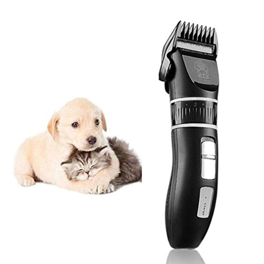 HUILI Dog Clippers,Upgrade Professional Electric Pet Grooming Clippers Low Noise motor Adjustable cutter head 5 h Work Time