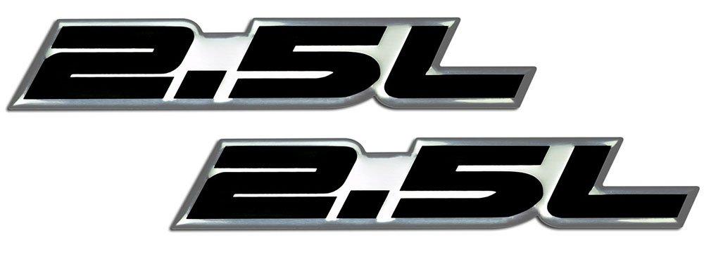 Pair // Set 2 x RED BLACK 5.7L Liter LS1 Real Aluminum Engine Hood Emblem Badge Nameplate Crate for Pontiac Trans Am Firebird WS6 Chevy Chevrolet Corvette C5 Camaro Z28 SS Super Sport Holden Vehicles Clubsport R8 Grange GTS Maloo Senator Signature 300 Cou