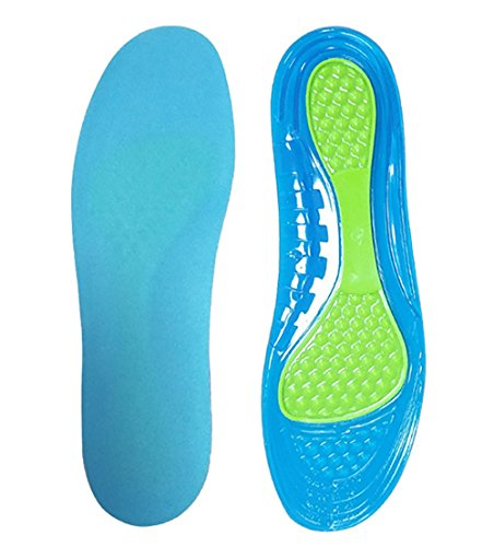 Sports Insoles for Shock Absorption Comfort Massaging Gel Silicon Insole for Running, - Sports Best Women