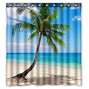 51J7DBVbCmL._SS300_ 200+ Beach Shower Curtains and Nautical Shower Curtains