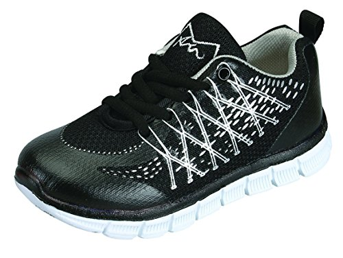 Benefit Wear M-Air Ultra Lightweight, Kids Athletic Sneakers (11, Marathon Black Silver) by Benefit Wear
