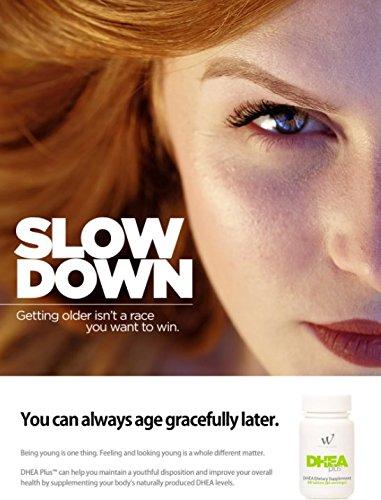 DHEA Plus 50 Milligram DHEA Dietary Supplement, Gingko Biloba, Bioperine (60 Count/Servings) by WIN Worldwide (Image #1)