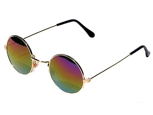Tedd Haze 60's lunettes de John Lennon Argenté/bleu avec des lunettes sac TwXv4