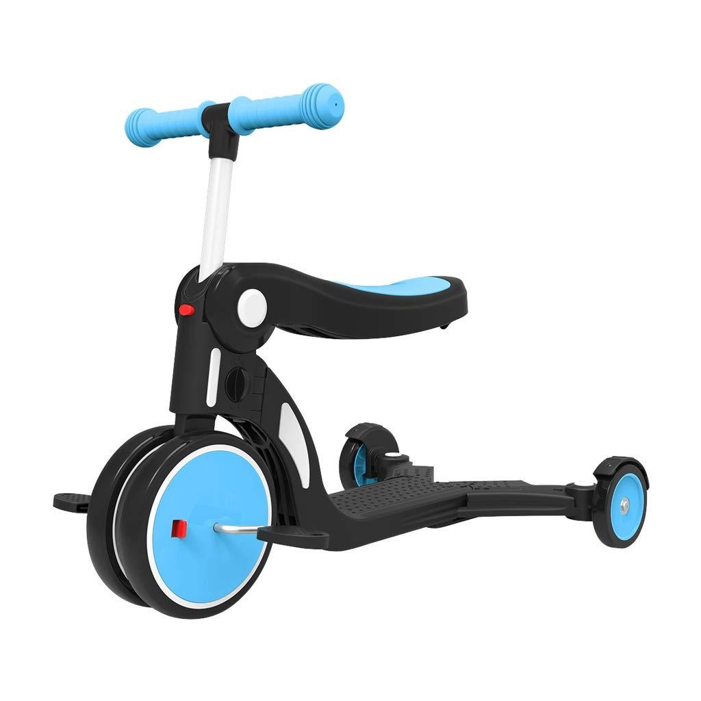 A la venta con descuento del 70%. XYAOYAN Triciclos Trike Five-in-One Triciclos para para para Niños Bicicletas Ligeras Scooters para Niños De 1-5 Años De Edad Scooters para Bebés Varios Ajustes Juguetes para Niños Niños Y Niñas amarillo azul  Envío rápido y el mejor servicio