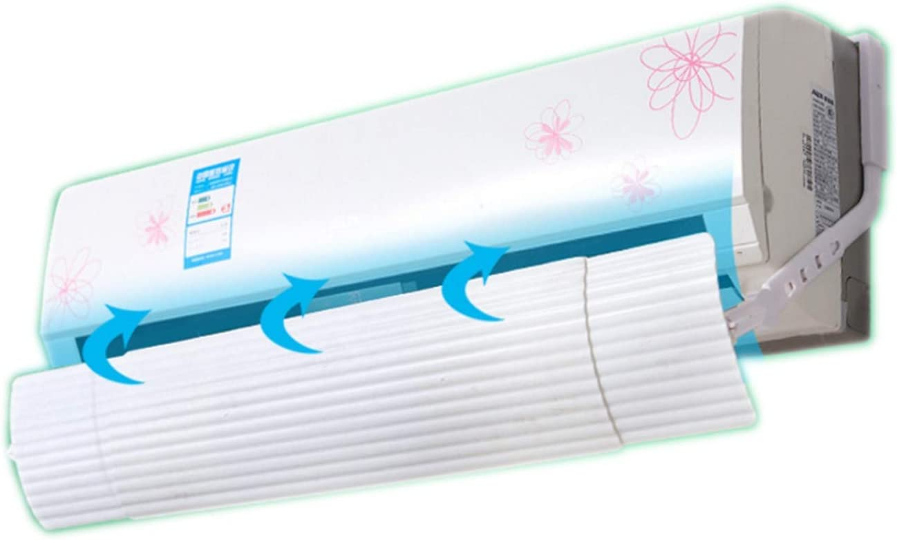 ZHOUWHJJ Adjustable Foldable Air Conditioner Deflector Confinement Air Deflector Outlet Air Wing Air Cooled Anti Blast Baffle Wind Direction Telescopic Windshield for Home