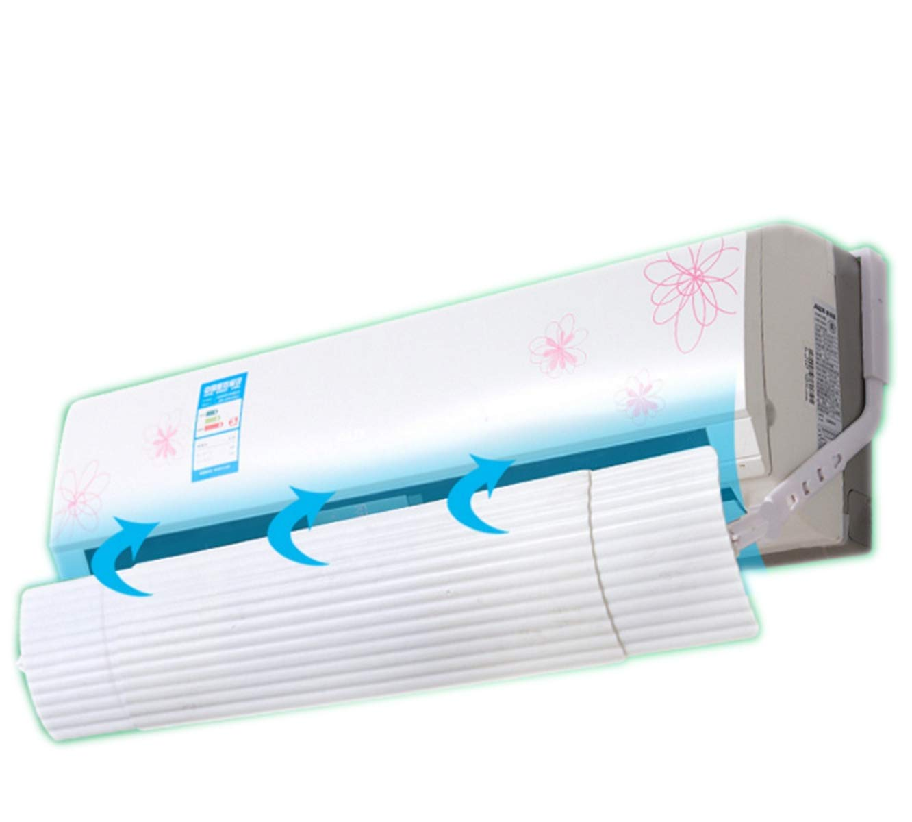 Foldable Air Conditioner Deflector Confinement Air Deflector Outlet Air Cooled Anti Blast Baffle Wind Direction Telescopic Windshield for Home