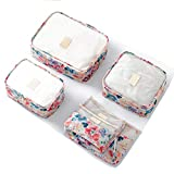 KARRESLY Packing Cubes 6 pc Value Set Compression Travel Luggage Organizer(zk003-6-pack-pink)