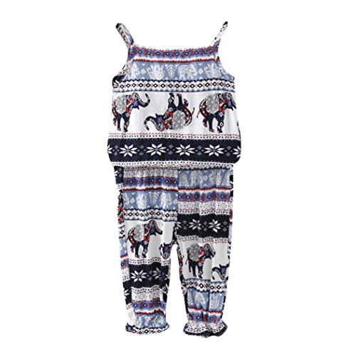 FEITONG Little Kid Girls' Clothes Set, Toddler Kids Baby Girls Summer T-Shirt Tops+ Pants Suit Outfits (White, ()