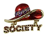 Red Hat Society 6030017 Ladies Club Pin Brooche Clothes Clothing Redhat