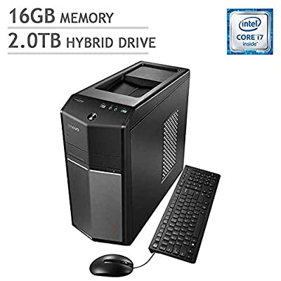 2017 Edition Lenovo IdeaCentre 710 High Performance Gaming Desktop, Intel Quad-Core i7-6700, 16GB DDR4, 2TB HDD, SuperMulti DVD, 2GB NVIDIA GeForce GT 730, Windows 10