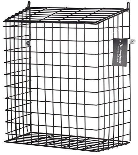 Buckingham 30052 Front Door Cage, Guard, Basket, Mail Catcher, Post, Letter Box, Pre-Assembled, Black