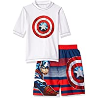 Marvel Boys' Captain America 2-Piece Swim Set