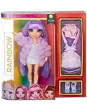 Rainbow High Modepop - Violet Willow- Paarse Pop met Glamoureuze Outfits, Accessoires en Poppenstandaard - Rainbow High Serie 1 - Perfect Cadeau voor Meisjes Vanaf 6 Jaar