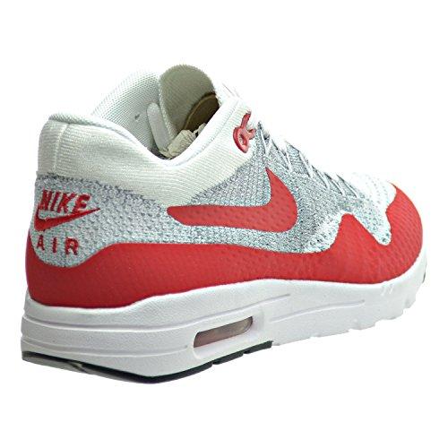 big sale 49452 287f0 ... czech nike air max 1 ultra flyknit kvinners joggesko hvit universitet  rød ren platina 17ae1 493da