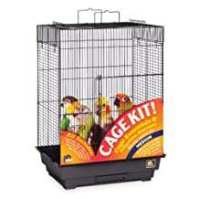 Prevue Hendryx Square Roof Bird Cage Kit, Black