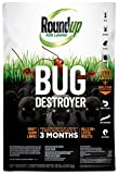 Roundup For Lawns Bug Destroyer Granule - Kills Ants, Spiders, Fleas, Grubs, Ticks & Other Insects - Kills Listed Insects For Up To 3 Months, Kills Above & Below Lawn's Surface, 10 LB
