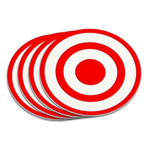 Target Sniper Scope Bullseye Coaster Set