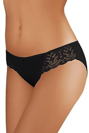68bc1fcef318df MOLTICO Damen Slips mit Spitze Hotpants Hipster Slip Dessous Pants Pantys  Unterwäsche aus BAUMWOLLE Größen S