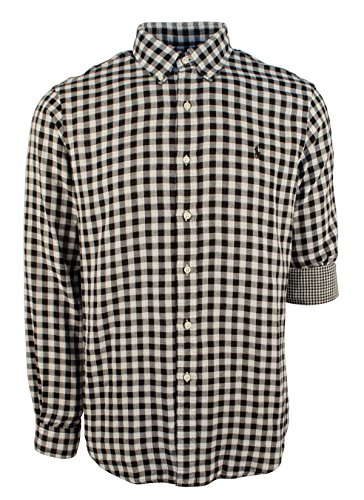 - Polo Ralph Lauren Men's Double Faced Checked Shirt, Black/White, XX-Large