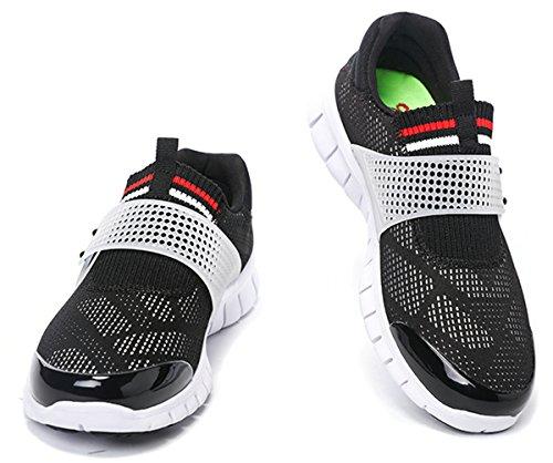 Onemix Mens Slip-on Shoes Black White SHOJtOh
