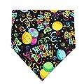 MIAPETTB Dog Birthday Bandana Triangle Bibs Scarf Accessories Black from MIAPETTB