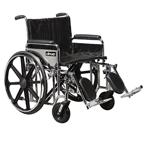 Bariatric Wheelchair Rem Full Arms 22 Wide w/ ELR Rem Full Arms
