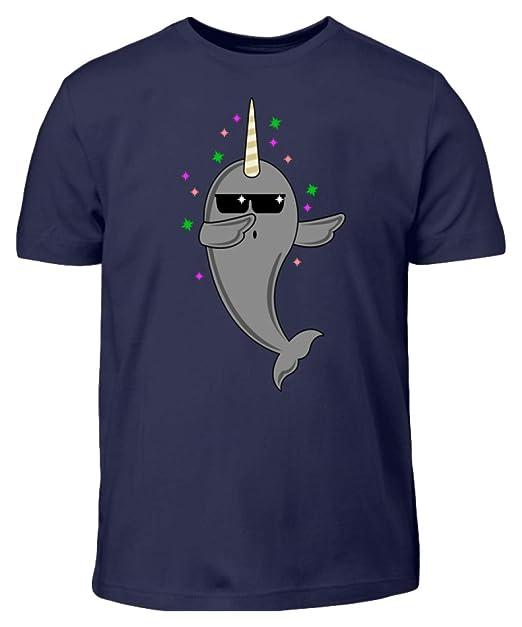 8e4b2bcbc4d8a Hochwertiges Kinder T-Shirt - Dabbing Narwal Narwhal Narwhale in The Ocean  - Schlichtes und Witziges Design: Amazon.de: Bekleidung