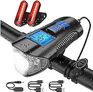 Untyo Bike Lights Bike Speedometer Extra 2 Bike Tail Light Bike Light Front Back Rechargeable Ipx6 Waterproof