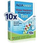 Aquakaiser-Cartine-per-misurazione-durezza-dellAcqua-Test-per-lanalisi-dellAcqua-di-casa-stagni-Piscine-acquari-10-Pezzi-confezionati-singolarmente