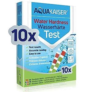 Aquakaiser Cartine per misurazione durezza dell'Acqua - Test per l'analisi dell'Acqua di casa, stagni, Piscine, acquari… 51J7G8tsbeL. SS300