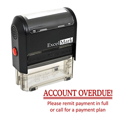 (Account OVERDUE! - Self Inking Bill Collection Stamp in Red Ink)