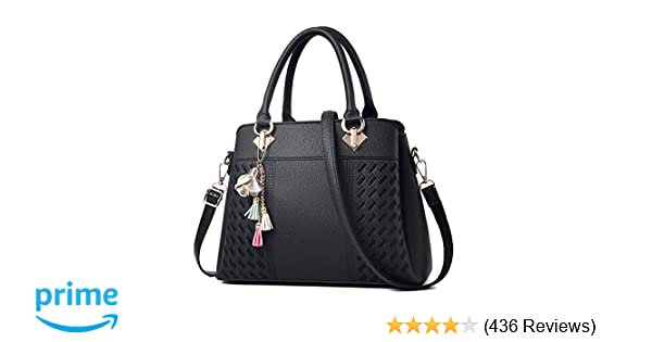 Amazon.com  Womens Purses and Handbags Ladies Designer Satchel Tote Bag  Shoulder Bags ef1f93acd8208