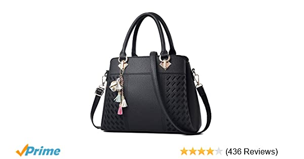 4a1cb87015d3 Amazon.com  Womens Purses and Handbags Ladies Designer Satchel Tote Bag  Shoulder Bags