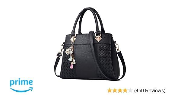 a5cb2cca93 Amazon.com  Womens Purses and Handbags Ladies Designer Satchel Tote Bag  Shoulder Bags