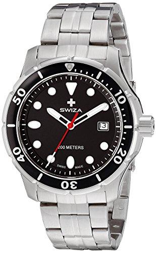 Swiza Men's WAT.0461.1002 Tetis Analog Display Swiss Quartz Silver Watch
