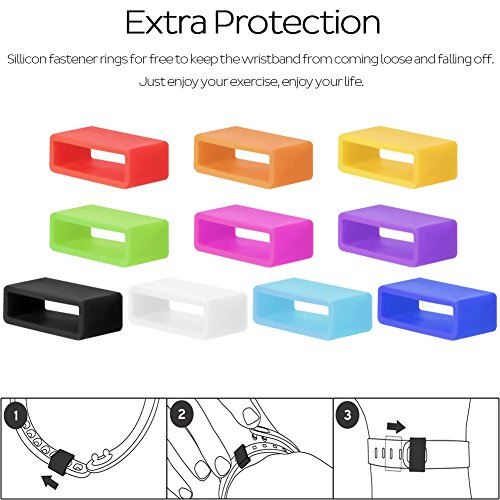 SKYLET Replacement Bands for Garmin Vivofit 2, NOT for Garmin Vivofit/Garmin Vivofit 3/Garmin Vivofit JR (No Tracker)(Pack of 13, Small)