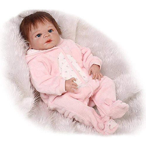 23 Inch Realistic Reborn Baby Doll Full Body Silicone Vinyl Boy Babies Dolls That Look Real Kids Birthday Gift