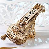 UGears Hurdy-Gurdy Mechanical 3D Puzzle, Wooden Musical Model, Adult Craft Set for Self-Assembly