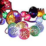 20 LED Disco Ball LED Party Light String Decorative lanterns for Holiday Wall Window Tree Decorative Party Yard Garden Kids Bedroom Living Dorm Uses(multicolor)