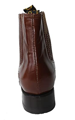 Amazon.com | Dona Michi Mens Cowboy Genuine Smooth Cowhide Leather Short Ankle Western Rodeo Biker Boots | Chelsea