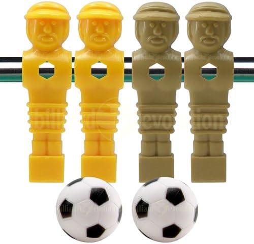 Billiard Evolution 4 marrón y Amarillo futbolín Hombres y 2 Pelotas de fútbol: Amazon.es: Deportes y aire libre