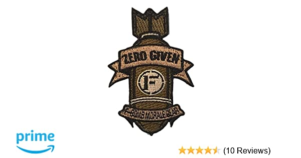 Zero Given F-Bomb Embroidered Morale Patch